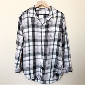 American Eagle Boyfriend Fit Plaid Shirt